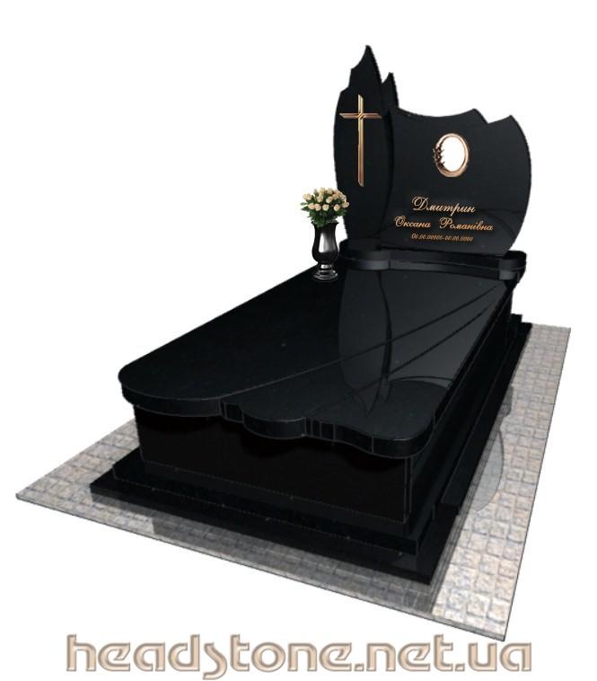 Пам'ятник з граніту виготовлення Львів на одного,3d проект пам'ятника надгробного,Бронзовий декор для пам'ятника надмогильного,Ритуальна скульптура на цвинтар