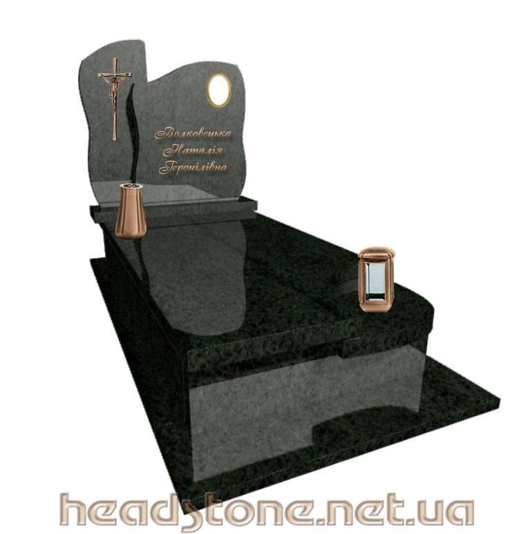 Купити пам'ятник надмогильний з граніту класу люкс для жінки з Оздоблення пам'ятника гранітного і 3d проект пам'ятник гранітного