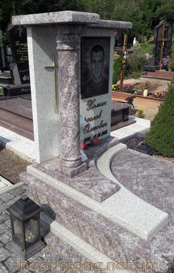 Пам'ятник з граніту виготовлення Львів Елітний подвійний,3Dмоделі пам'ятника надмогильного,Накладний хрест на пам'ятник з граніту, Скульптури на могилу