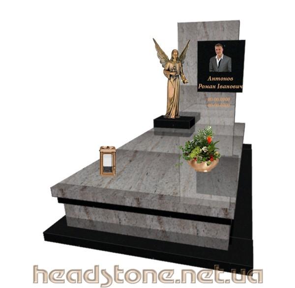 Купити пам'ятник від виробника гранітний Елітний одинарний з Аксесуари для памятника з граніту і 3Dмоделі пам'ятника надмогиьного