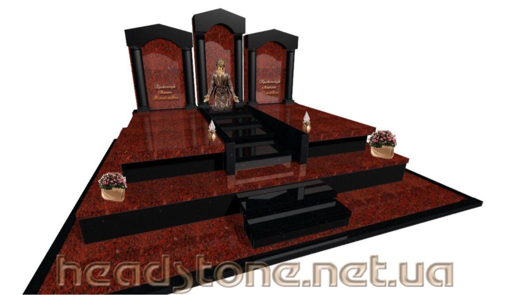 Пам'ятник з граніту виготовлення Львів Елітний На цвинтар,3d проект пам'ятника гранітного,Бронзові аксесуари для пам'ятника надмогильного,Статуя на могилу