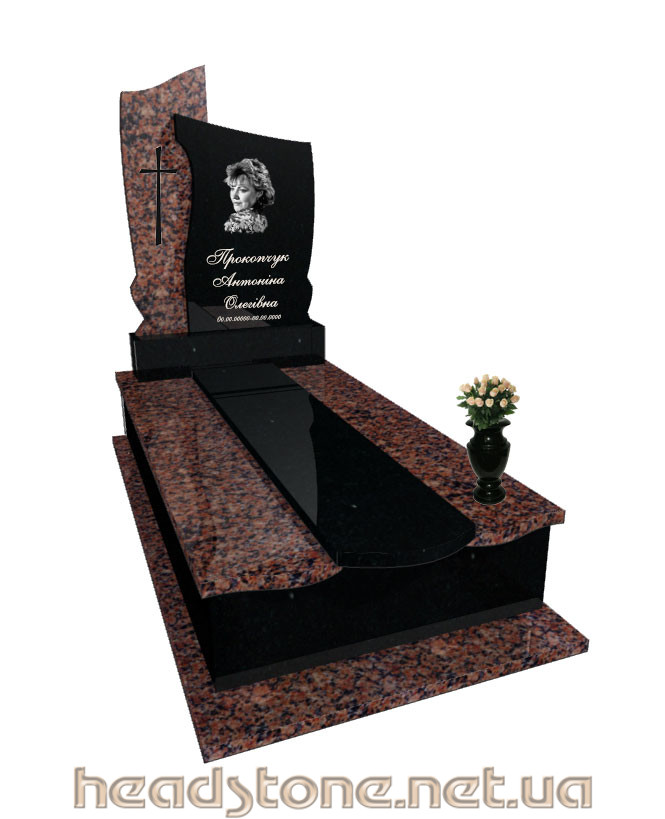 Купити від виробника пам'ятник гранітний VIP класу для чоловіка з Ритуальна фурнітура і 3D проектування памятника