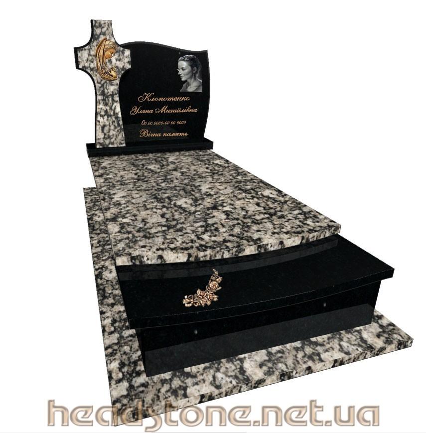 Пам'ятник з граніту виготовлення Львів Елітний на могилу,3Dмоделі памятника надгробного, Латунні та бронзові вироби на памятник з граніту,Ритуальна скульптура