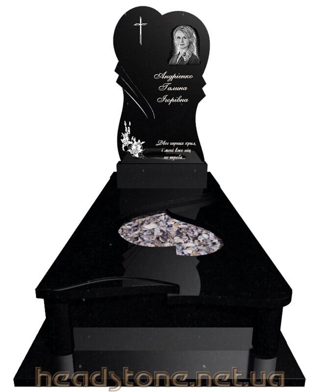Замовити пам'ятник надгробний з чорного граніту Декор для пам'ятника 3D проектування памятника Бронзові літери писані Ціна букви на памятнику Скульптура Ангела