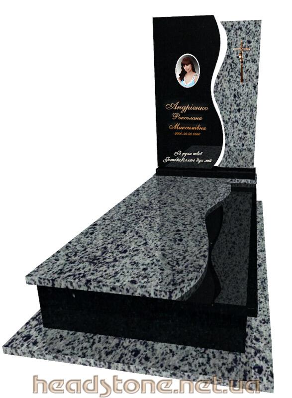 Замовити пам'ятник надмогильний одинарний, 3D проектування памятника Бронзові аксесуари для пам'ятника Бронзовий хрест на памятник Накладні букви на памятник