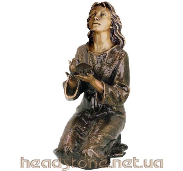 Замовити пам'ятник надгробний гранітний італійський стиль Дизайн 3D пам'ятника Бронзові аксесуари для пам'ятника Бронзові літери писані фігура ангела на могилу