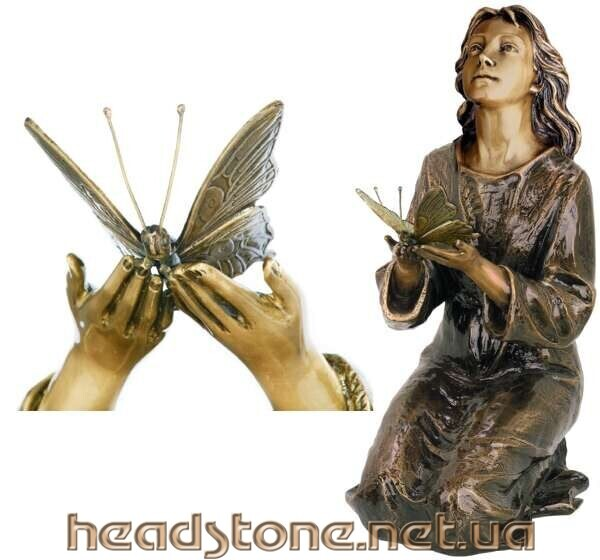 Купити від виробника пам'ятник гранітний на замовлення Декор для пам'ятника Накладні букви на памятник Скульптура Матері Божої
