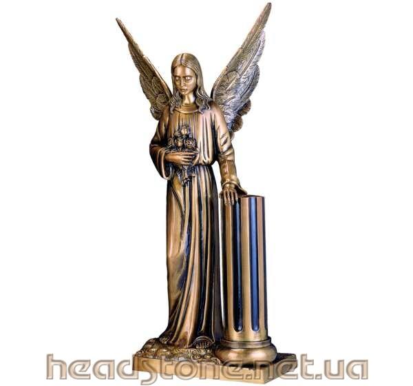 Замовити памятник з граніту подвійний Елітний 3D проектування памятника Бронзові аксесуари для памятника Бронзові квіти і Золоті букви на памятник ваза граніт