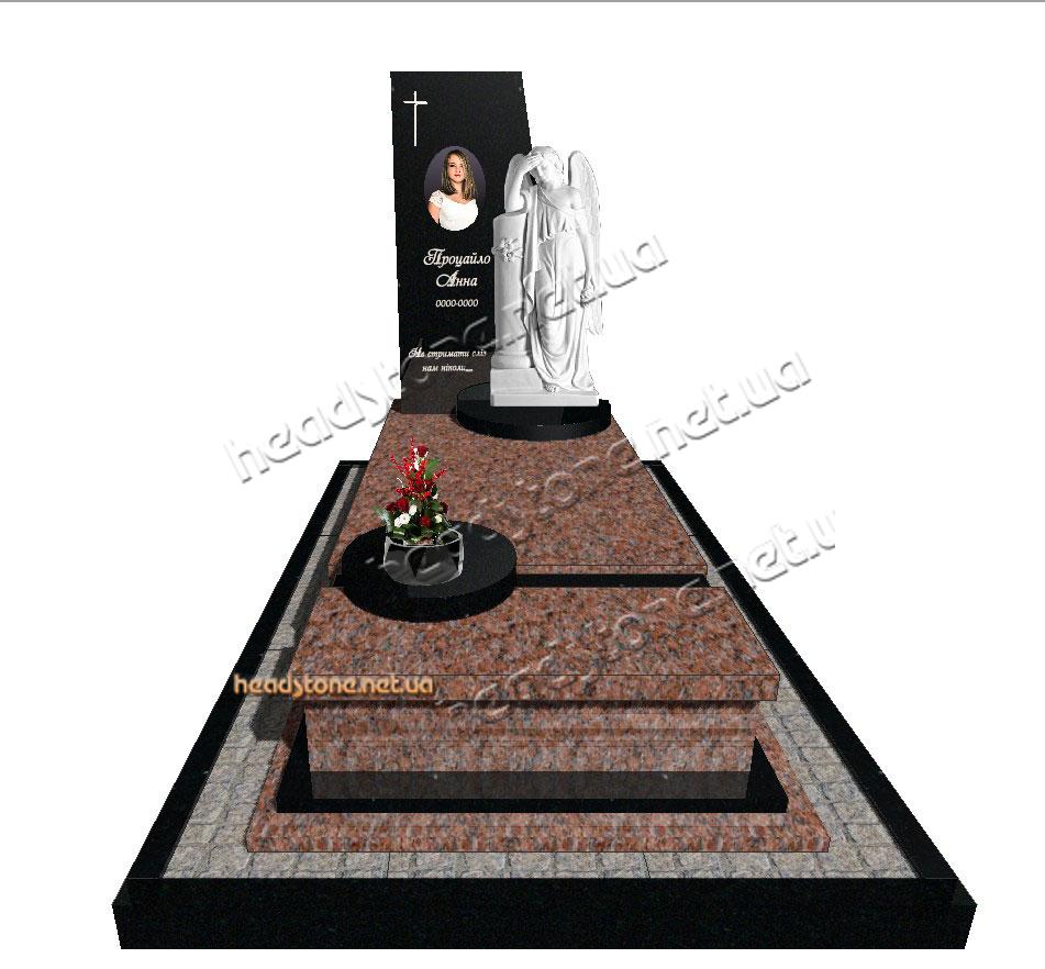елітні пам'ятники, виготовлення пам'ятників,надгробний пам'ятник з квітником, гранітний пам'ятник,пам'ятник гранітний на одного,гранітний пам'ятник з ангелом