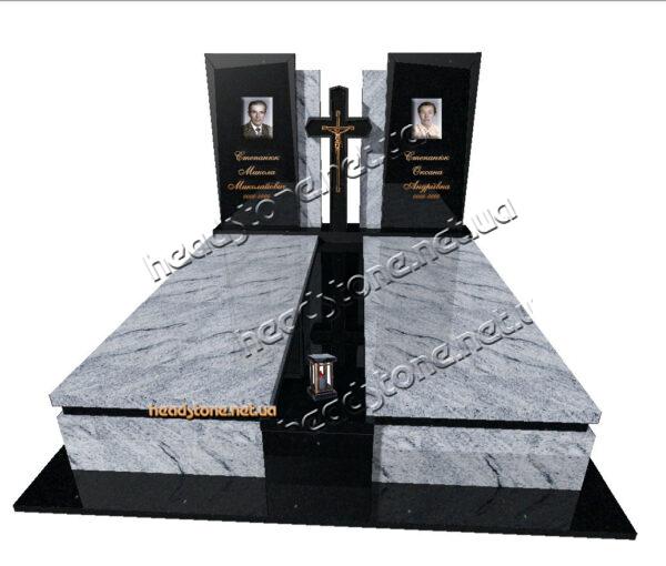 Виготовлення гранітних подвійних пам'ятників,елітний пам'ятник гранітний подвійний, подвійний пам'ятник на двох з граніту, елітні памятники на двох на могилу