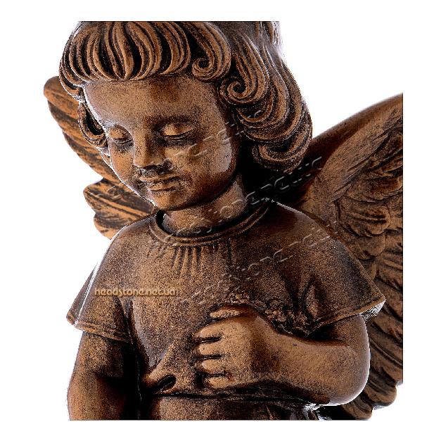 пам'ятник гранітний одинарний Елітний бронзовий декор Lorenzi для пам'ятника Ваза на пам'ятник з бронзи Caggiati Накладні букви на пам'ятник