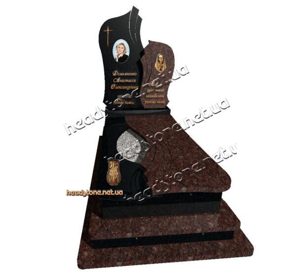 Купити від виробника пам'ятник надгробний гранітний на замовлення Декор для пам'ятника Накладні букви на памятник Скульптура Матері Божої